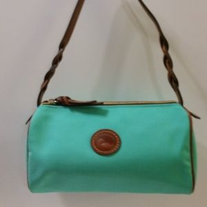 NEW Mint Green Dooney & Bourke Canvas Barrel Bag